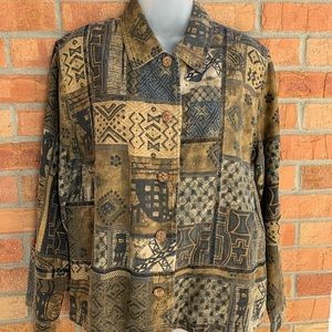 Chico's Women's Tribal Pattern Jacket
